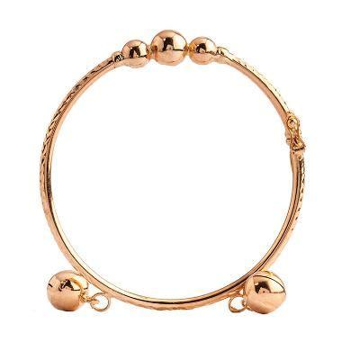 Gelang Tangan Emas Pesanan Yuliana jual emas gold gloria 3 bola dan 2 bel emas gelang tangan