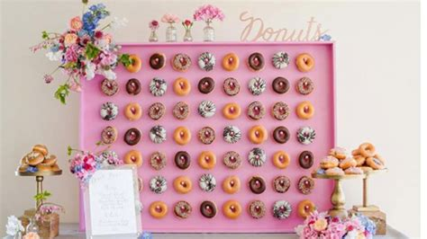 New Trends In Kitchen Design by Doughnut Walls 17 Wedding Food Trends We Re Loving
