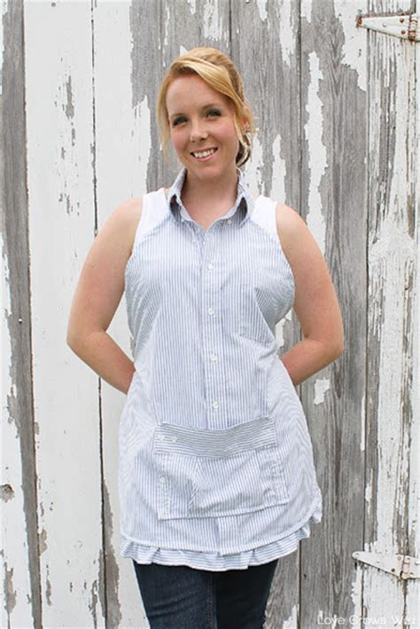 pattern for apron made from men s shirt men s dress shirt apron love grows wild