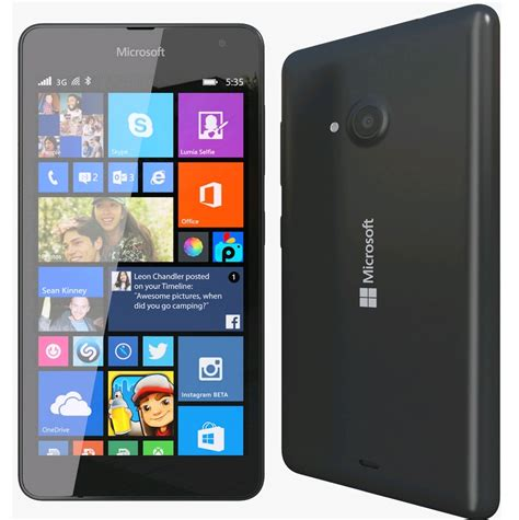 Microsoft Lumia 535 microsoft lumia 535 black features 1 2 ghz snapdragon 200 and 1gb of ram 8gb onboard