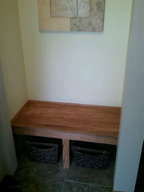 entryway closet turned into bench home ideas