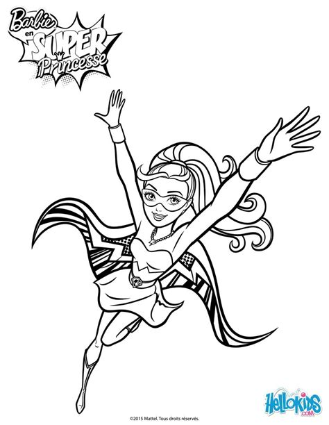 barbie superhero coloring page barbie super power 4 coloring pages hellokids com