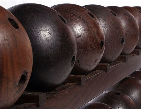 anonymous works early custom made walnut bowling balls