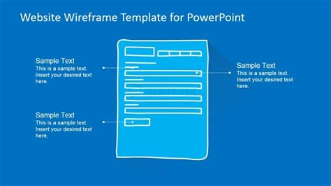 form website wireframe portrait template slidemodel