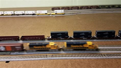santa fe layout youtube n scale santa fe layout four locomotives running youtube