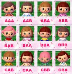 animal crossing city folk hair color guide animal crossing new leaf visages animal crossing new