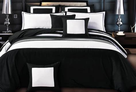 Luxton rossier striped black amp white duvet quilt cover set buy with money back warranty
