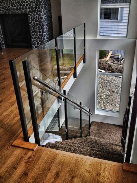 glass banister rails 25 best ideas about glass stair railing on pinterest