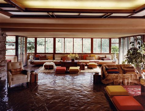 The Wright Interiors by Tour America S History Fallingwater