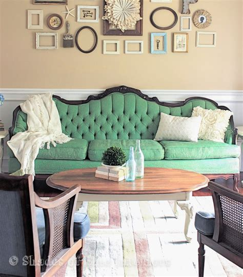 couch paint makeover monday green painted sofa shades of blue interiors