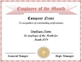 employee of the month certificate template best business