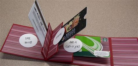Book Gift Card - date night gift card booklet inside view another great scor pal project gift ideas