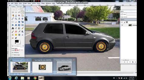 Online 3d Design Program virtual tuning car golf 4 make in gimp youtube