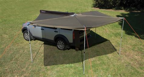 vehicle tents awnings rhino rack foxwing 2 5 vehicle awning adventure ready
