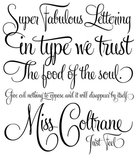 fonts calligraphy popular designs