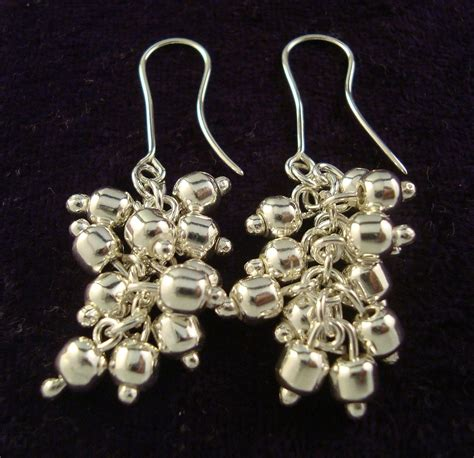 925 Bead Earring taxco mexico 925 sterling deco bead earrings mexican