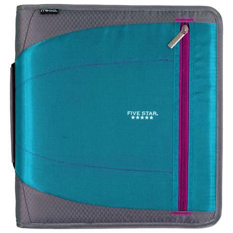 five 4 school five zipper binder 2 inch 3 ring binder