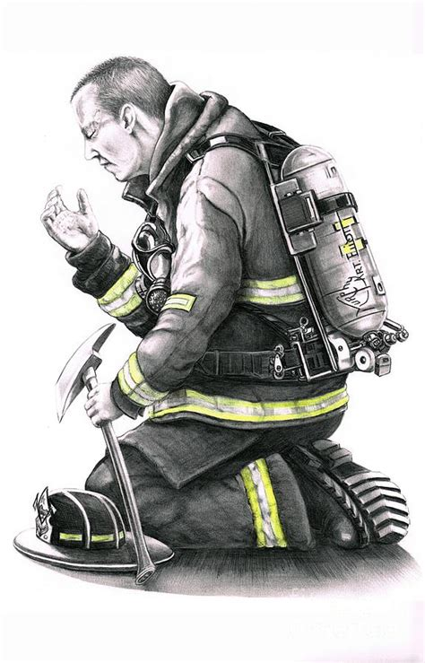 firefighter drawing by murphy elliott