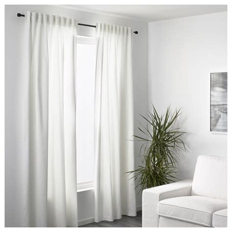 ikea canada curtains merete curtains 1 pair white 145x300 cm ikea