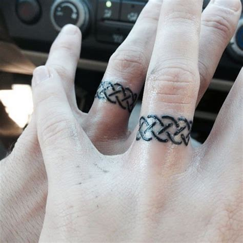 wedding band tattoos for men wedding ring pictures to pin on tattooskid
