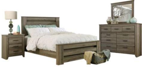 ashley zelen  piece queen bedroom set homemakers furniture