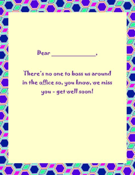 get well card template microsoft word get well cards wording 1 free geographics word templates