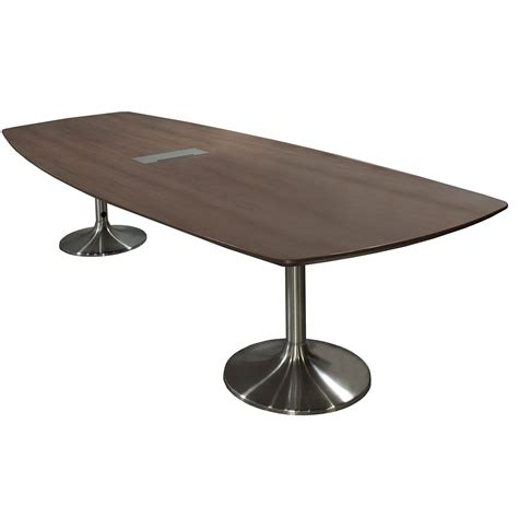 Furniture Upholstery Dallas Creative Wood Products 11ft Conference Table Walnut 01