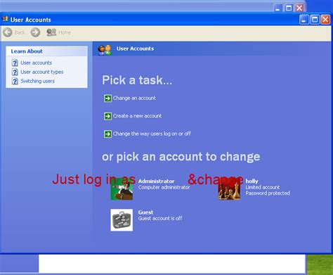 password reset on xp how to reset a forgotten windows xp logon password with or