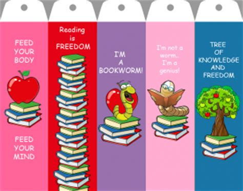 the cool web pattern of children s reading printable bookmarks with quotes