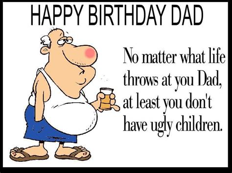 Funny Printable Happy Birthday Dad Cards | unique funny dad birthday card envelope personalised for