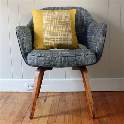 Yellow And Grey Chair Grey Chair Yellow Patterned Pillow Things For