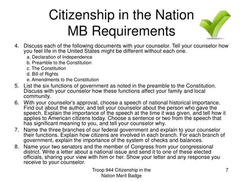 Citizenship In The Nation Worksheet by Citizenship In The Nation Merit Badge Counselor Worksheet