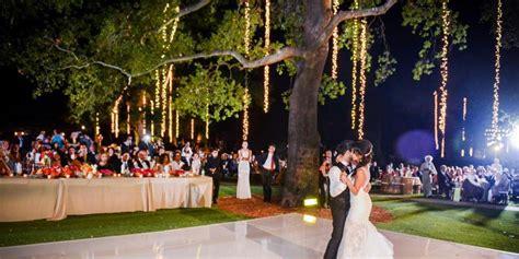 Backyard Wedding Venues Los Angeles by Garden Setting At Saddlerock Ranch Weddings Get Prices