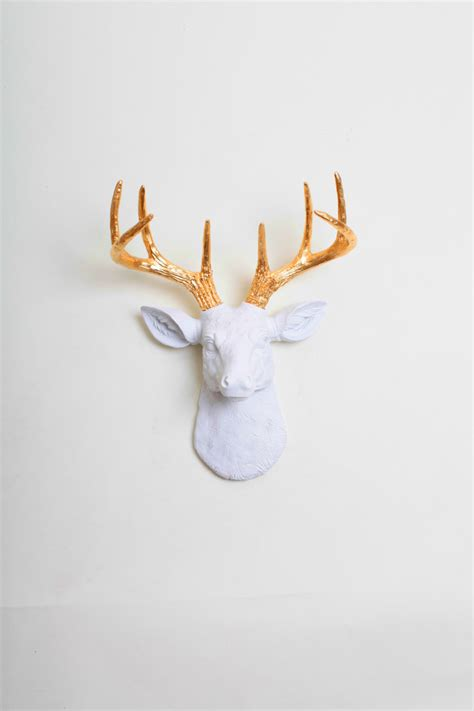 White Deer Wall Decor by Mini Faux Taxidermy Deer The Mini Alfred By White Faux
