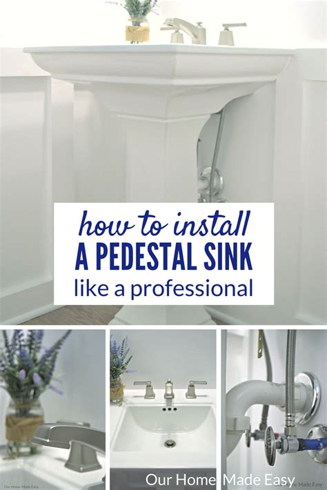 how to install a sink how to install a pedestal sink orc week 3 our home