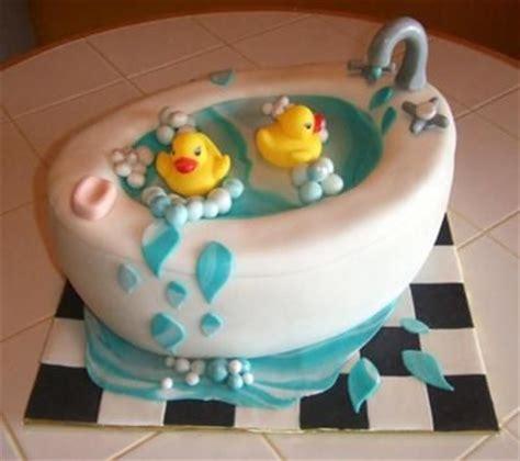 bathtub cake with rubber ducks duckies
