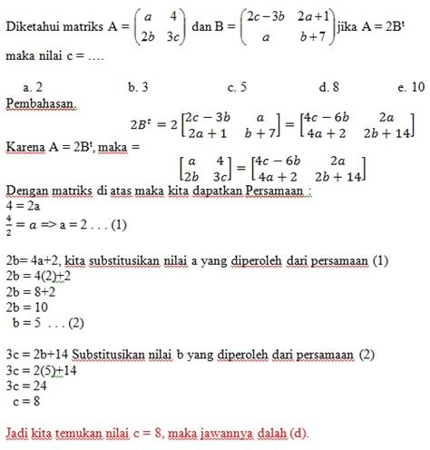 format makalah matematika makalah matematika ekonomi tentang matriks kumpulan mater