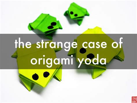 The Strange Of Origami Yoda - strange of the origami yoda image collections craft