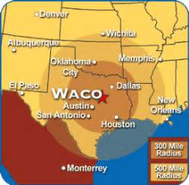 map of waco and surrounding cities waco map