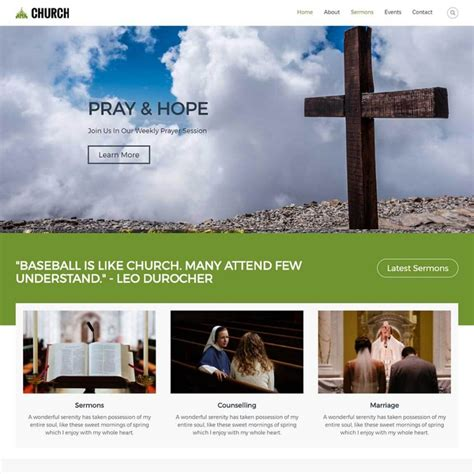 10 best wordpress church themes templates for 2018