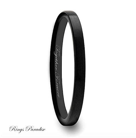 Wedding Bands Black by Tungsten Wedding Band Tungtsen Ring Wedding Bands