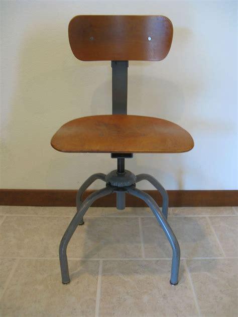 Bevco Stools by Vintage Bevco Singer Industrial Chair Swivel Adj Stool