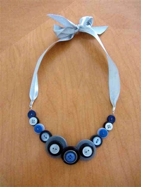 how to make jewelry with buttons button necklace crafty fashion