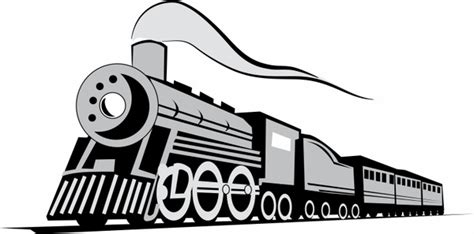 Kereta Choochoo Classical classic locomotive free vector in adobe illustrator