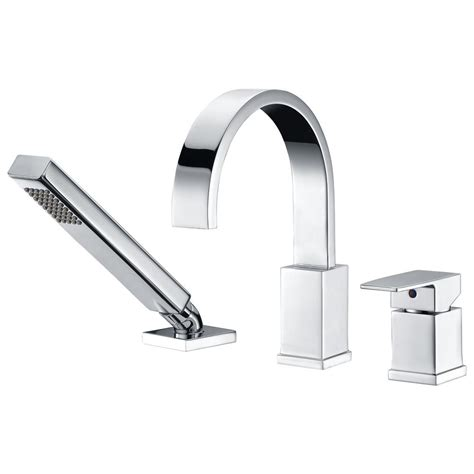 deck mount bathtub faucet with sprayer anzzi nite series single handle deck mount roman tub