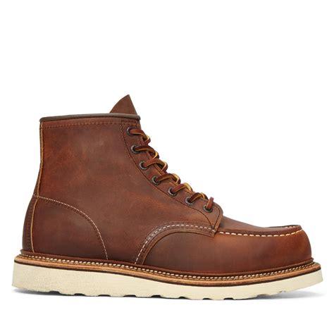 mens moc toe boot s moc toe 1907 classic leather boots burgundy