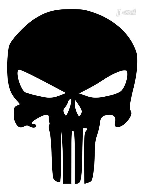 punisher skull tattoo your free punisher skull stencil here save time