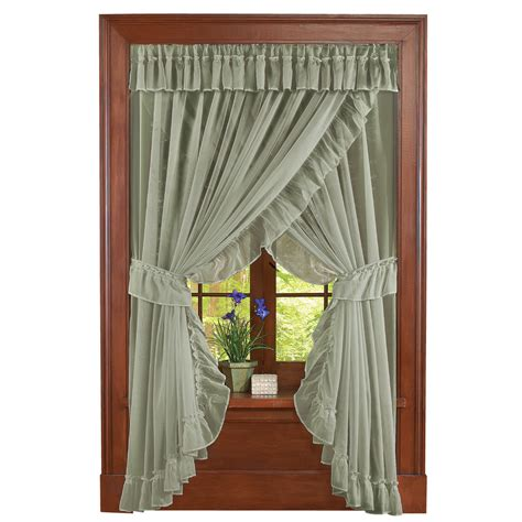 sheer fabric for curtains isabella ruffled sheer fabric curtain set by collections
