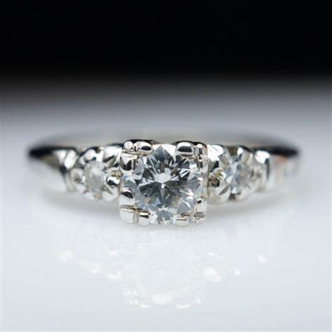 deco wedding ring set vintage 1940s deco engagement ring in 18k white gold vintage engagement ring wedding