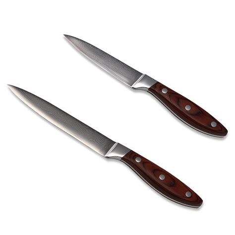 Rate Kitchen Knives Kitchen Knife Set 5 Inch Utility 3 5 Inch Paring Damascus